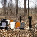 Low-flow groundwater sampling. GRT maintains all field investigation equipment in-house.