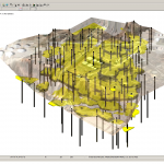 3D solids modeling of LNAPL contaminant plume